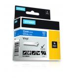 Ruban vinyl DYMO pour Rhino - 12 mm x 5,5 m - blanc/bleu