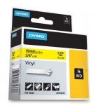 Ruban vinyl DYMO pour Rhino - 19 mm x 5,5 m - noir/jaune