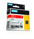Ruban vinyl DYMO pour Rhino - 19 mm x 5,5 m - blanc/rouge