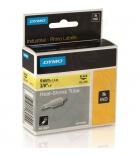Gaine thermo-rétractable DYMO pour rhino - 9 mm - noir/jaune