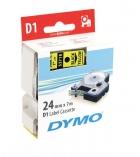 Ruban laminé DYMO D1 - 24 mm x 7 m - noir/jaune