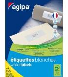 Boîte de 500 feuilles A4 - 12 000 étiquettes adhésives multiusages APLI - 100800 - 70 x 35 mm