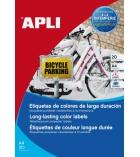 Boîte de 20 feuilles A4 - 20 étiquettes laser-couleur pour affichage extérieur APLI - 12877