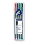 Box de 4 rollers STAEDTLER - Triplus Roll 403 - pointe métal - assortiment