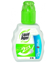 Flacon correcteur PAPER MATE - Liquid Paper 2 en 1 - 22 ml