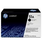 Cartouche d'impression laser noire HP 6500 pages - Q7551A - 51A