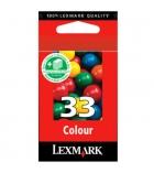 Cartouche d'impression jet d'encre 3 couleurs LEXMARK 190 pages - 18CX033E - 33