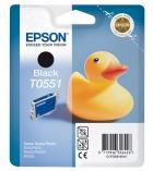 """Cartouche d'impression """"canard"""" jet d'encre noire EPSON 420 pages - C13T05514010 - T0551"""
