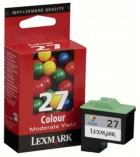 Cartouche d'impression jet d'encre 3 couleurs LEXMARK 140 pages - 10N0227E - 27