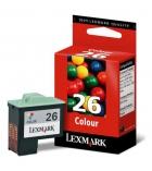 Cartouche d'impression jet d'encre 3 couleurs LEXMARK 275 pages 10N0026 - 26