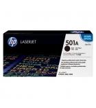 Cartouche d'impression laser couleur noir HP 6000 pages - Q6470A - 501A