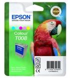 """Cartouche d'impression """"perroquet""""  jet d'encre 5 couleurs EPSON 220 pages - C13T008401 - T008"""