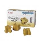 Boîte de 3 sticks laser couleur jaune XEROX 3400 pages - 108R00725