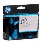 Tête d'impression jet d'encre HP noire/jaune - C4900A - 940
