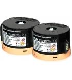 Pack 2 cartouches d'impression laser noir EPSON 2 x 2500 pages - C13S050711 - 0711
