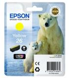 """Cartouche d'impression """"ours polaire"""" jet d'encre jaune EPSON 300 pages - C13T261440 - 26"""