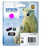 """Cartouche d'impression """"ours polaire"""" jet d'encre magenta EPSON 300 pages - C13T261340 - 26"""