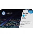 Cartouche d'impression laser couleur HP toner cyan 12500 pages - CF031A - 646A