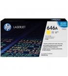 Cartouche d'impression laser couleur HP toner jaune 12500 pages - CF032A - 646A
