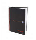 Cahier spirale OXFORD Black&Red - couverture polypro - 140 pages - A5 - 5 x 5