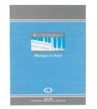 Cahier de musique et chant piqûre CONQUERANT 48 pages - 17 x 22cm - séyès + portée
