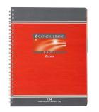 Cahier de texte piqûre CONQUERANT 124 pages - 17 x 22cm - 5 x 5