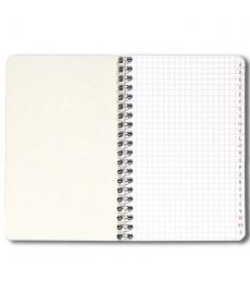 Carnet répertoire spirale - 100 pages - 11 x 17cm - 5 x 5