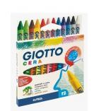 Boîte de 12 crayons à la cire GIOTTO - Ø 8,5 mm
