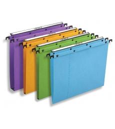 Paquet de 25 dossiers suspendus pour tiroir L'OBLIQUE  AZO Ultimate - fond 30 mm - orange