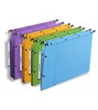 Paquet de 25 dossiers suspendus pour armoire L'OBLIQUE Ultimate AZV - fond 15 mm - assortiment
