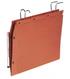 Paquet de 25 dossiers suspendus L'OBLIQUE AZV TUB V2 kraft fd 15mm - orange