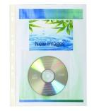 Paquet de 5 pochettes PVC perforées pour 1 cd