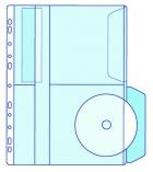 Paquet de 5 pochettes PVC perforées pour 2 cd - EXACOMPTA