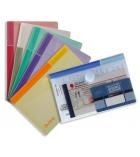 Sachet de 6 pochettes TARIFOLD T-Collection - pour A6 - assortiment translucides
