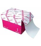 Carton papier listing 2000 plis 12''x 240 mm - 1+0 - 80 g - bande caroll détachable micro-perforée