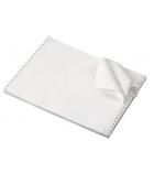 Carton papier listing 1000 plis 11''x 380 mm - 2+0 - 56/57 g - zoné vert - bande caroll fixe