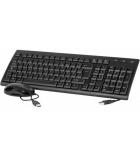 Pack clavier ultra-mince et souris USB