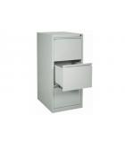 Classeur métallique pour dossiers suspendus - 3 tiroirs - gris