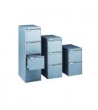 Classeur métallique pour dossier suspendus - 4 tiroirs - alu