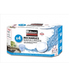 Paquet de 4 recharges pour absorbeur d'humidité RUBSON - Basic