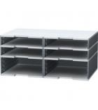 Eléments EXACOMPTA Modulodoc - cases Jumbo Ecoblack - noir/gris souris