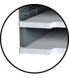 Set de 2 cache-rails EXACOMPTA Modulodoc - taille normale - gris souris