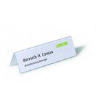 Boîte de 25 porte-noms chevalets PVC - DURABLE - 6,1 x 21 cm