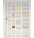 Bande de planning 40 fentes pour fiches T NOBO - 80,5 cm - indice 2