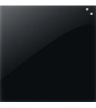 Tableau en verre effaçable - 45 x 45cm - noir
