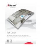 Pochette autocollante REXEL Signe Maker - pour affiche A5
