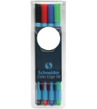 Pochette de 4 stylos bille SCHNEIDER - Slider Edge - assortiment