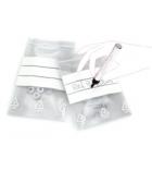 Paquet de 100 sacs plastique fermeture rapide et bande blanche 80 x 120 mm