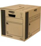 Lot de 10 cartons de déménagement FELLOWES Cargo Box - charges lourdes 30 x 37 x 40 cm