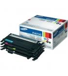 Pack 4 cartouches d'impression laser 1 noire 3 couleurs SAMSUNG 1500 + 3x1000 pages - CLT-P4072C